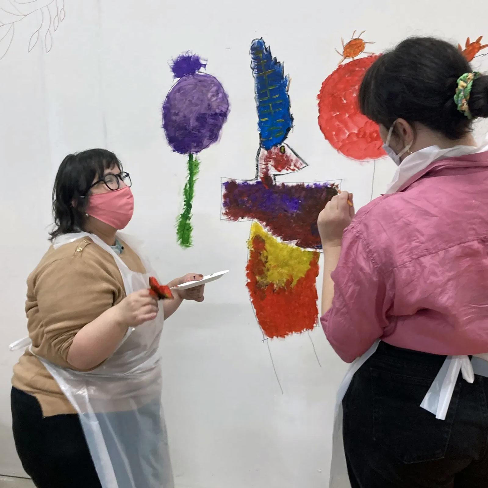 Painting a mural